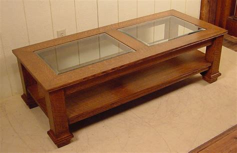 Custom Made Furniture By Doug Schmitt Antiques Oak And Glass Coffee Tables