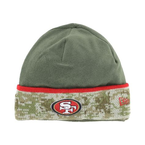 49ers knit hat new era green san francisco 49ers salute to service knit