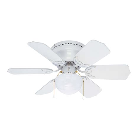 Flush Mount White Ceiling Fan With Light Shop Litex Vortex Hugger 30 In White Flush Mount Ceiling Fan With Light Kit 6 Blade At Lowes