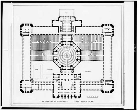 library of congress floor plan alterations to the library of congress thomas jefferson