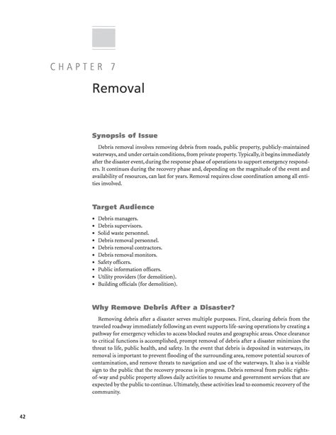 Flooring Estimator Sle Resume by Chapter 7 Removal A Debris Management Handbook For State And Local Dots And Departments Of