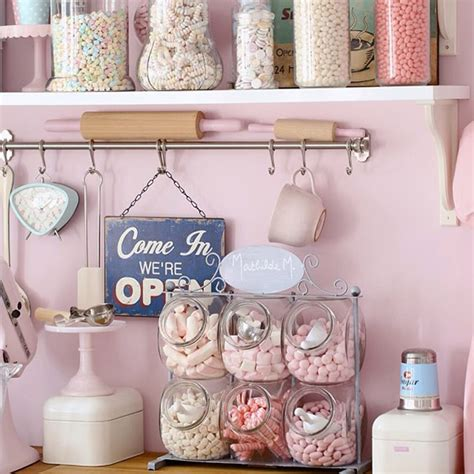 pastel kitchen ideas see what i mean i want some of these jars and all of the sweets especially strawberry bon bons