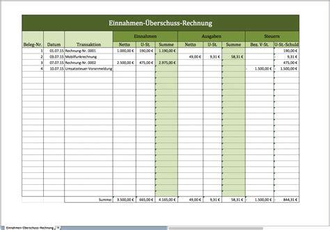 Muster Rechnung Finanzamt Einnahmen 220 Berschuss Rechnung Als Excelvorlage Excel Vorlagen F 252 R Jeden Zweck