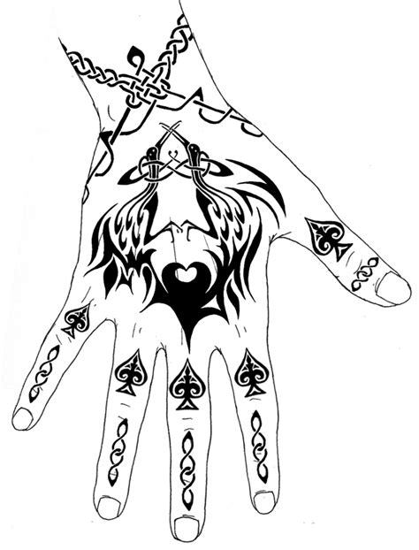 back hand tattoo designs the black tattoos