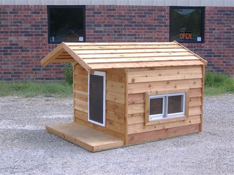 open dog house extra large ac dog house