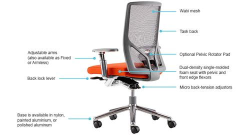 Ergonomic Features Of A Chair wabi by izzy bluecony modern and ergonomic office chairs