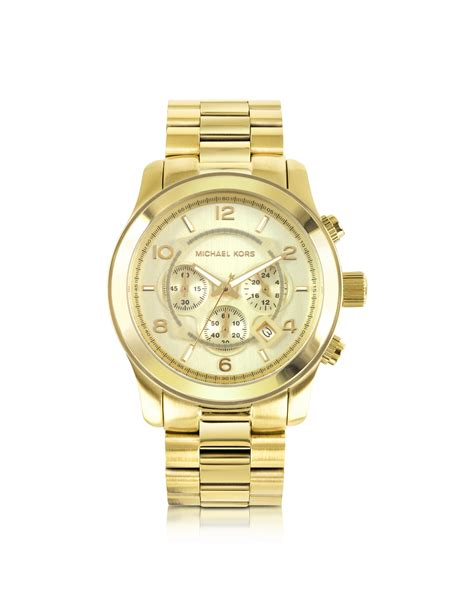michael kors s runway gold tone stainless steel