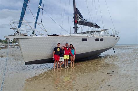 aluminium catamaran yacht aluminum sailboat construction for high seas sailing and