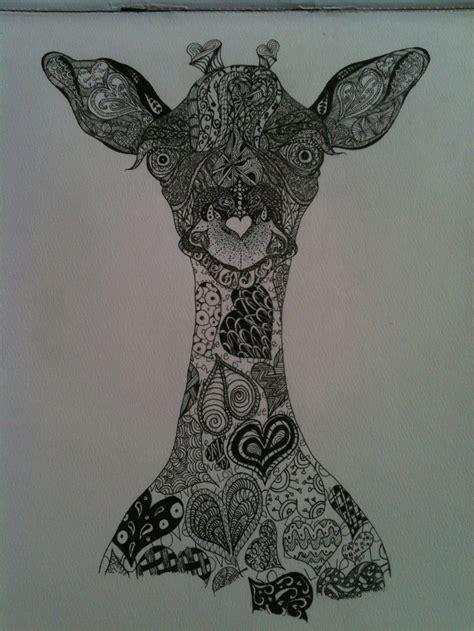 zentangle pattern giraffe 208 best art zentangles 1 0 black complex designs images
