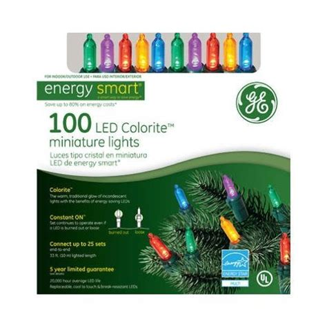 ge s energy smart colorite led miniature lights 100 led colorite miniature lights multi colored energy