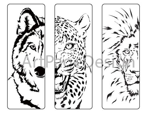 printable animal bookmarks to color printable bookmarks black and white animals yspages com