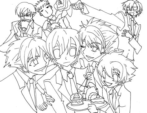 Ouran High Host Club Coloring Pages Freecoloring4u Com High School Coloring Pages
