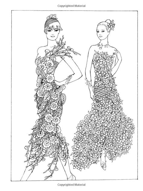 coloring pages for adults fashion creative haven flower fashion fantasies coloring book