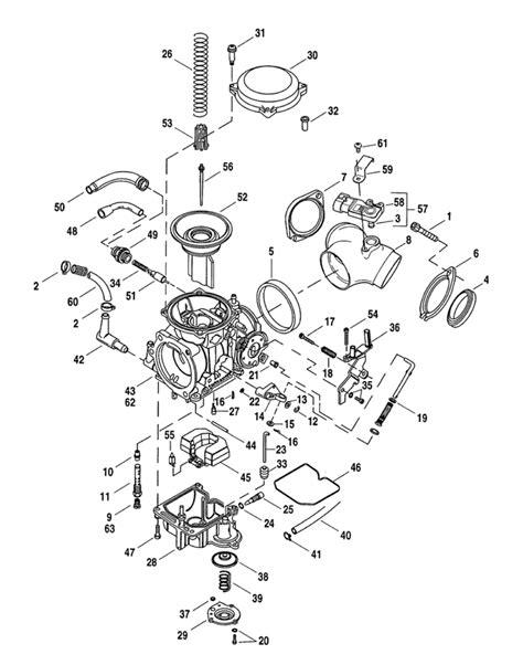 harley davidson carburetor diagram cv performance harley cv carburetor parts diagram