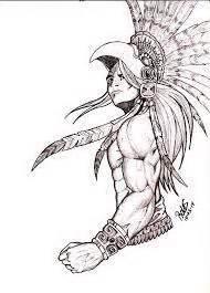 imagenes de aztecas a lapiz guerrero azteca dibujos pinterest guerrero azteca