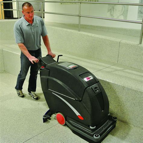 20 inch battery operated floor scrubber unoclean