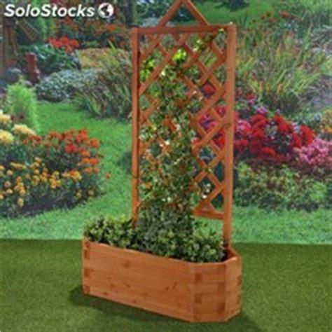 enrejado trilach macetero de madera con enredadera para terraza o jard 237 n