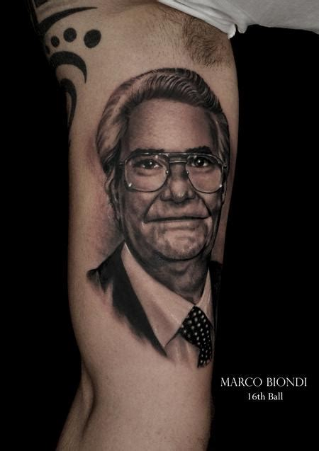 christian tattoo artist kansas city religious father face black n gray portrait tattoo