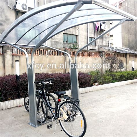 bike awning outdoor galvanized bicycle garage shelter canopy iso
