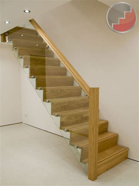 Wood Stair Banisters Glass Balustrade Oak Staircase Z Vision From Stairplan