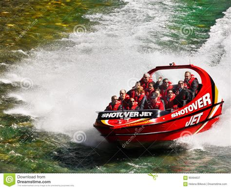 shotover river jet boat ride new zealand shotover jet boat ride queenstown new zealand editorial
