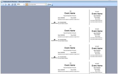 Event Program Template Publisher by How To Create Tickets For An Event Tutorial Free