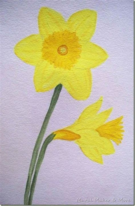 watercolor daffodil tutorial simple tutorial for painting daffodils just paint it