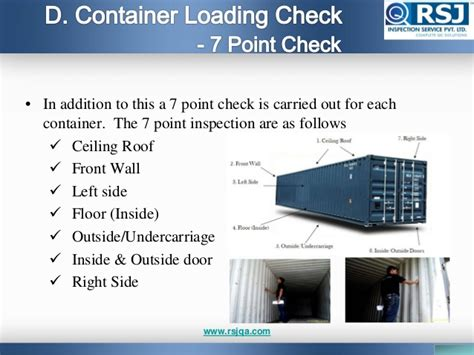 here s a 7 point checklist for a successful product release container loading inspection