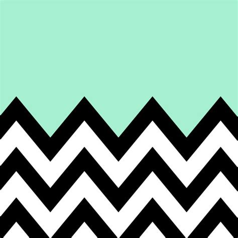 Hand Painted Dining Room Furniture by Mint Green Color Block Chevron Art Print Modern