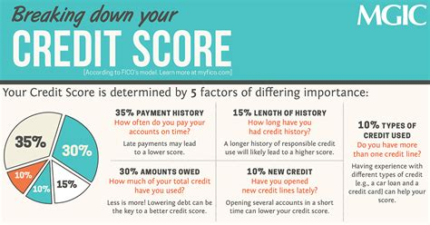 infographic breaking your credit score