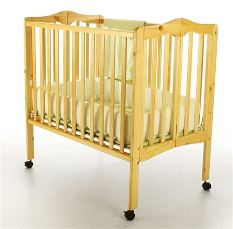 Foldable Cribs For Babies by On Me 2 In 1 Lightweight Portable Folding Crib