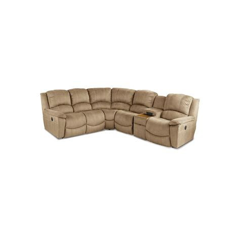 Stone Microfiber 6 Piece Reclining Sectional