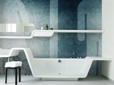 blue bathroom wallpaper hd wallpaper