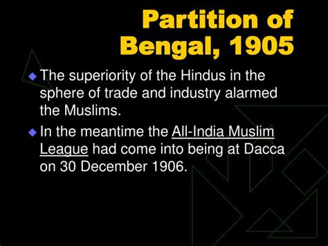 ppt partition of bengal 1905 powerpoint presentation