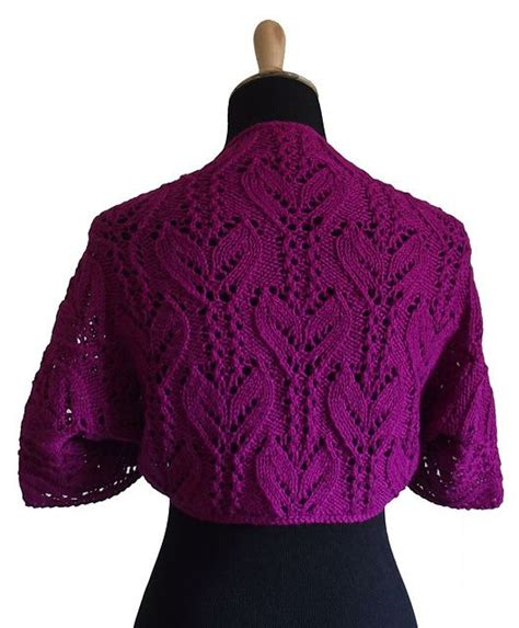 leaf pattern bolero shrug and bolero knitting patterns pinterest free