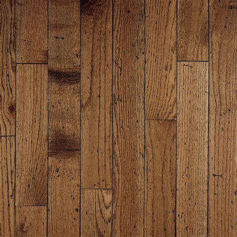 Plank Hardwood Flooring Shop Bruce Gentry Plank 3 25 In W Prefinished Oak Hardwood Flooring Antique At Lowes
