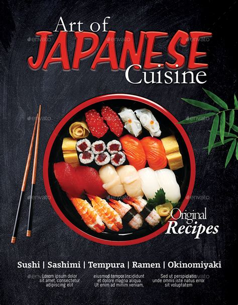 flyer design japan japanese restaurant flyer poster template 2 psd by