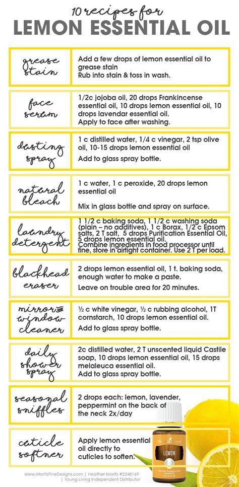 printable lemon recipes 25 best ideas about essential oils on pinterest doterra