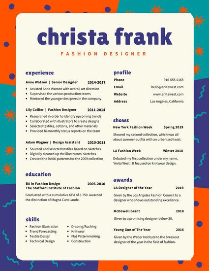 Colorful Resume Templates Canva Colorful Resume Templates