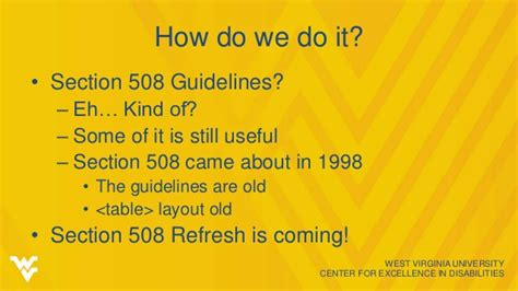 section 508 refresh web accessibility overview