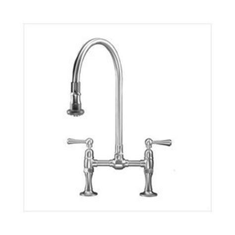 Bridge Faucet With Pull Sprayer Bridge Kitchen Faucet With Pull Spray And Metal Wheel