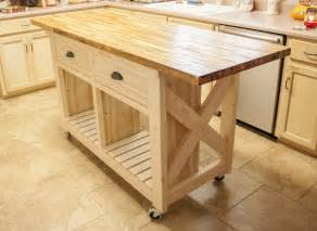 Butcher Block Top Kitchen Island White Kitchen Island With Butcher Block Top Diy Projects
