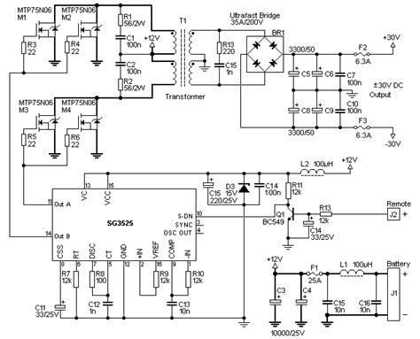 Harga Rangkaian Power Inverter rangkaian inverter 12 v dc ke 30 v dc