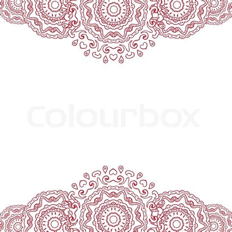 abstract background frame red mandala doodle style
