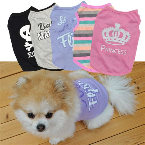 Summer Pet Clothes Puppy Small Cat Pet Vest T Shirt Coat Costume summer pet puppy small cat pet clothes vest t