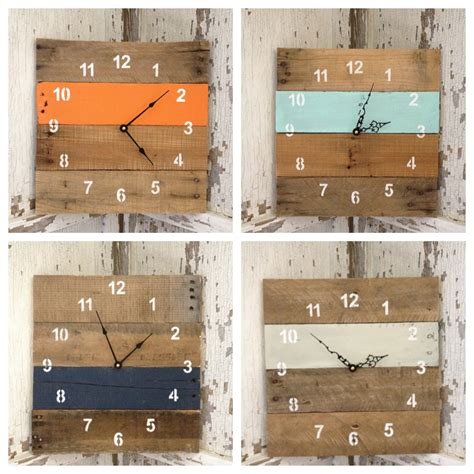reclaimed pallet wood wall clock home decor