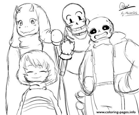 coloring pages undertale undertale all characters coloring sheet coloring pages