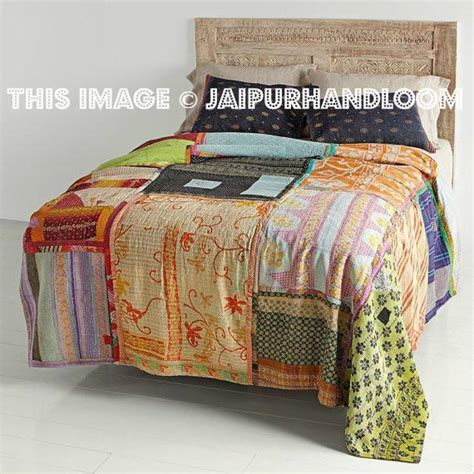 vintage kantha patchwork quilt blanket throw bedding