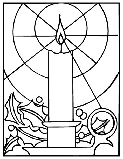 church candles coloring pages to print kids coloring pages