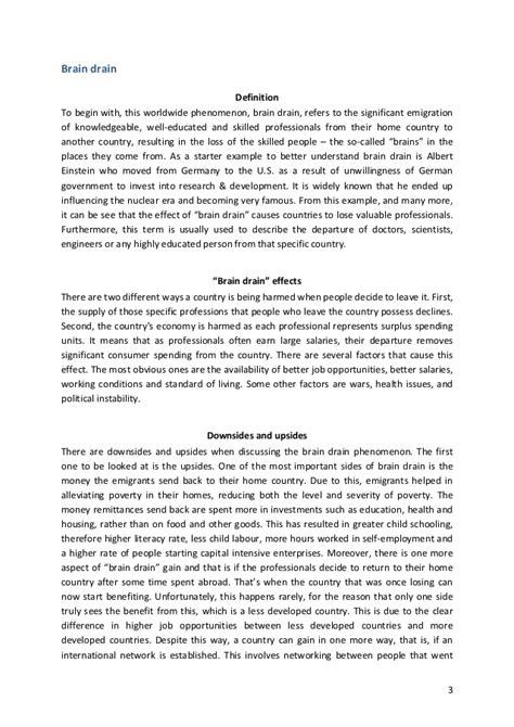 An Essay On Brain Drain by Essay Brain Drain How Can Developing Countries Deal The Brain Drain Publish Fashion Retail Cover
